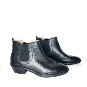 Sofft Chelsea Ankle Boots Black Leather Booties